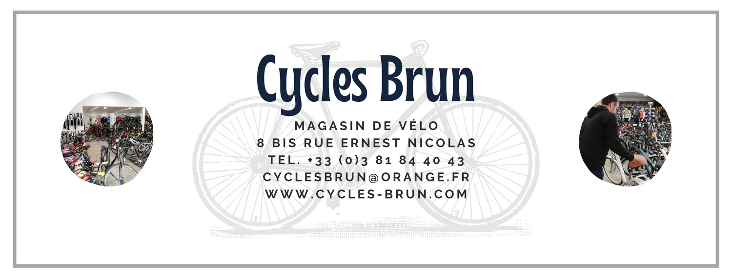 Carte Cycles Brun Baume les Dames magasin de vélo